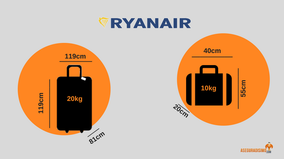 Adentro gas Kent  tamaño de equipaje según la compañía aérea